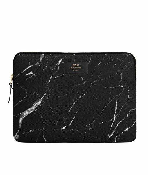 funda marmol negro macbook wouf