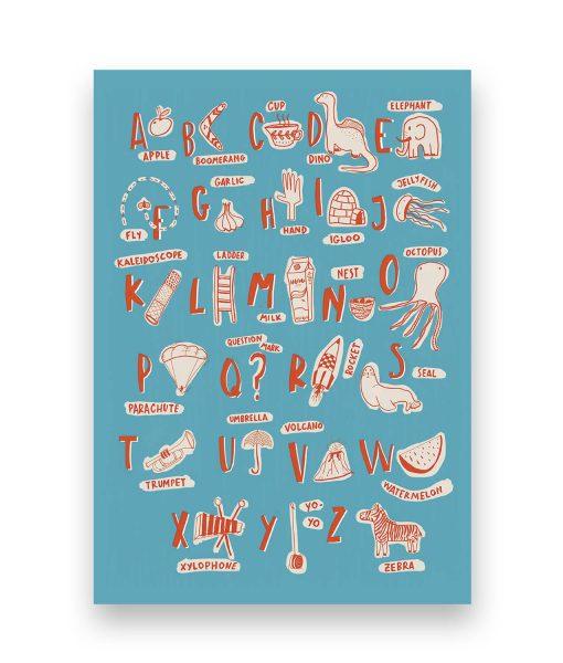 ilustracion abecedario sira lobo
