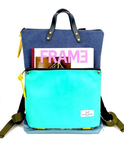 backpack Book Holder sky blue  daniel chong