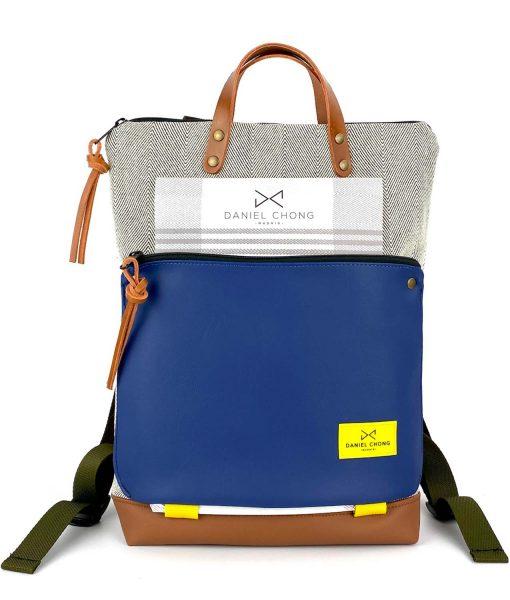 backpack Book Holder brown blue daniel chong