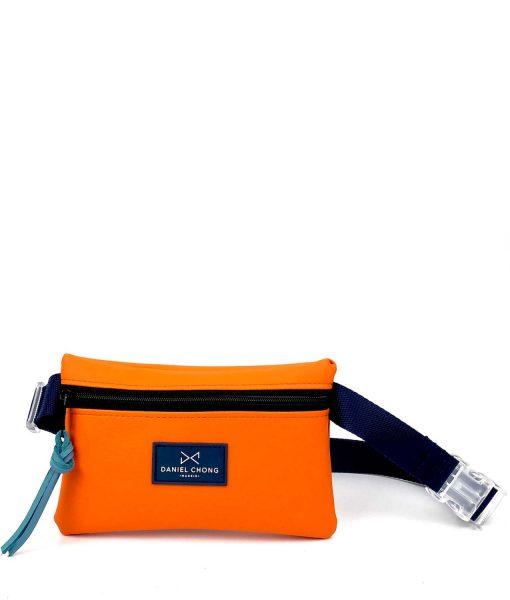 hip-pack-orange daniel-chong VEGAN LEATHER